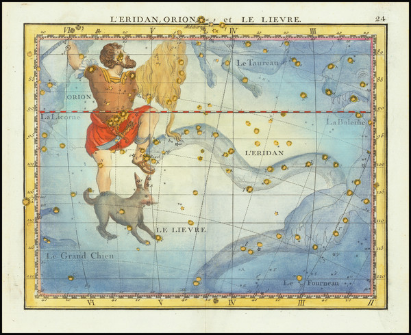 1-Celestial Maps Map By John Flamsteed / MJ Fortin