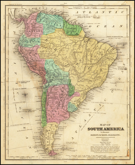 83-South America Map By Jesse Olney