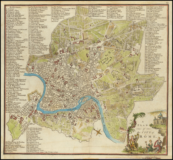 29-Rome Map By John Stockdale