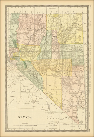 85-Nevada Map By William Rand  &  Andrew McNally