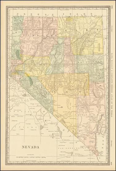 90-Nevada Map By William Rand  &  Andrew McNally