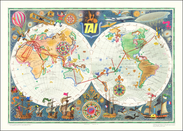 61-World and Pictorial Maps Map By Luc Marie Bayle