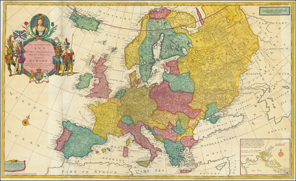 13-Europe Map By Herman Moll