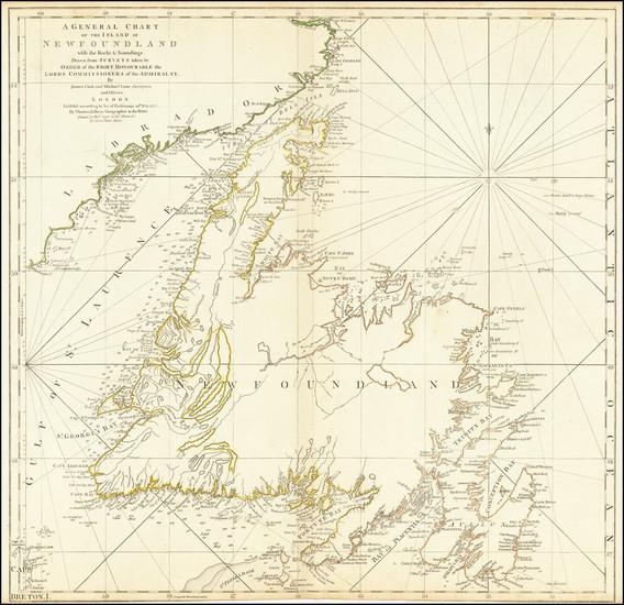 34-Canada Map By Thomas Jefferys