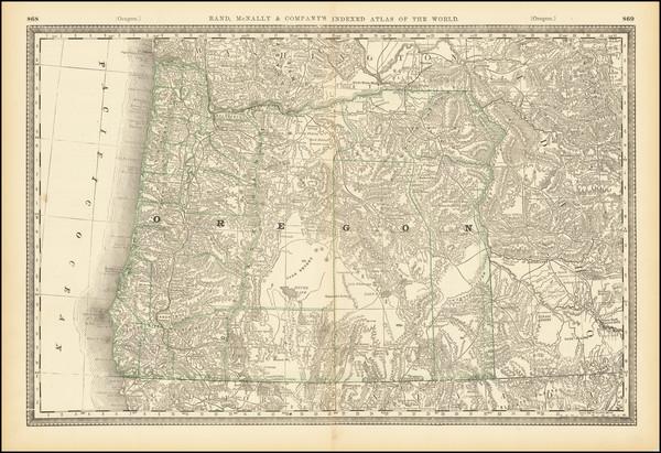 60-Oregon Map By Rand McNally & Company