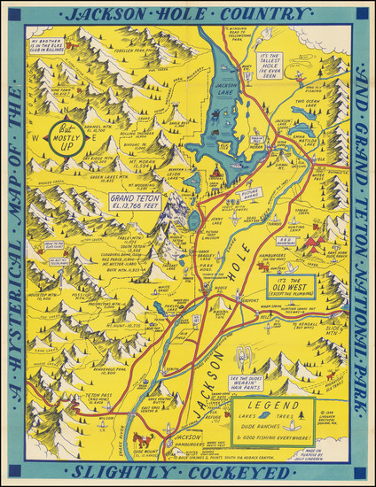 7-Wyoming and Pictorial Maps Map By Lindgren Brothers