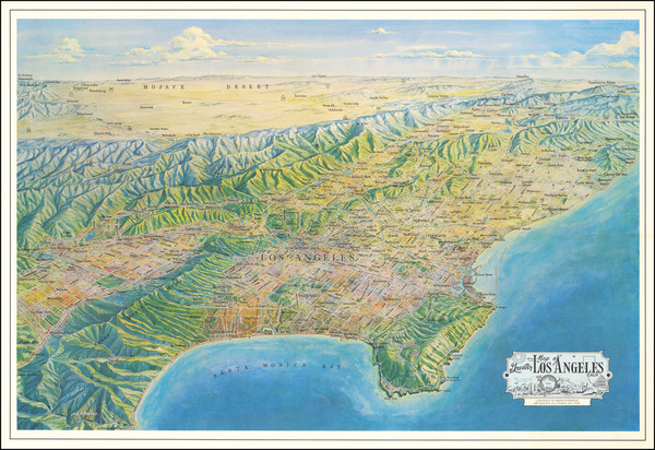 84-Los Angeles Map By Jack H. Moffett