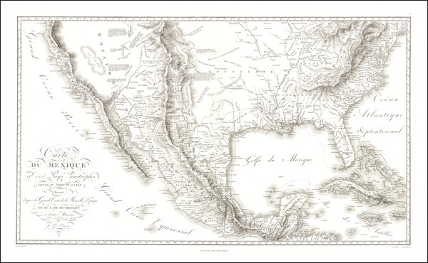 52-Texas, Plains, Southwest, Rocky Mountains, Mexico and California Map By Alexander Von Humboldt