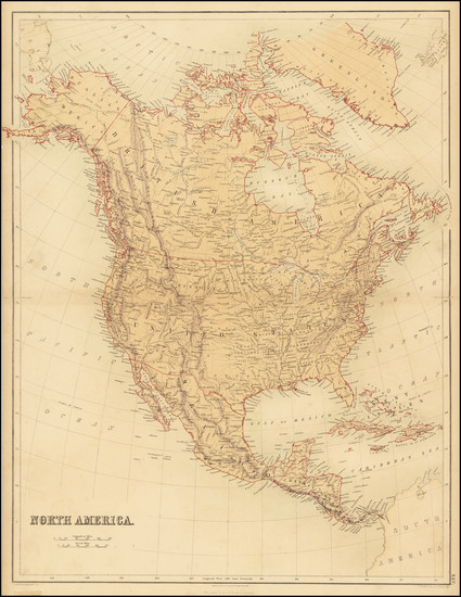 94-Kansas and North America Map By Adam & Charles Black