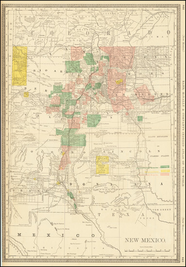 74-New Mexico Map By William Rand / Andrew McNally