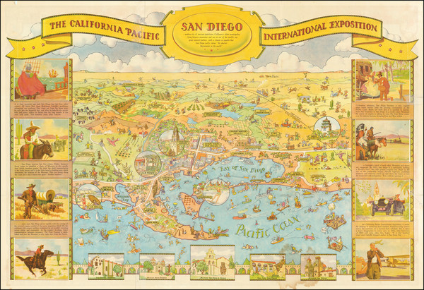 95-Pictorial Maps and San Diego Map By Don Bloodgood