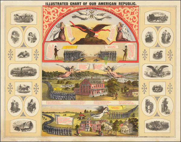 62-United States, Pictorial Maps and Curiosities Map By J. Danforth Bowen