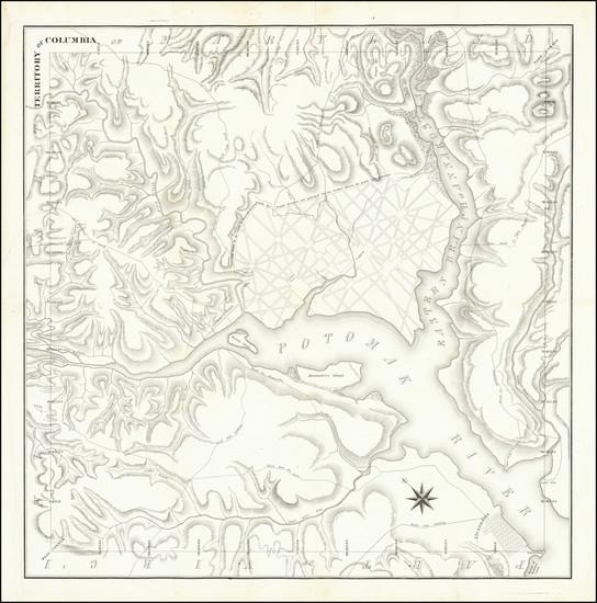68-Washington, D.C. Map By Andrew Ellicott / A. Boyd Hamilton