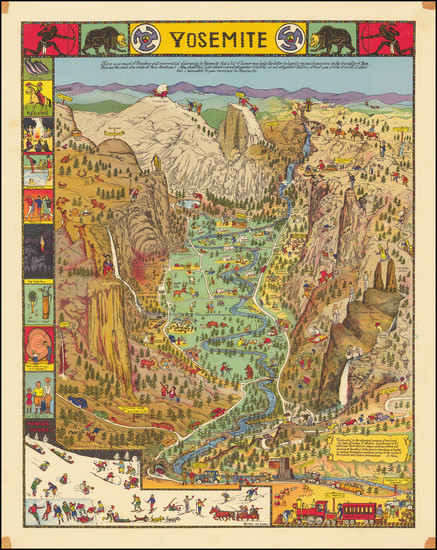 68-Pictorial Maps and Yosemite Map By Jo Mora