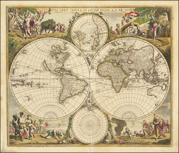74-World and World Map By Frederick De Wit