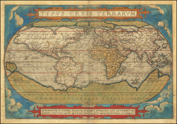 66-World Map By Abraham Ortelius