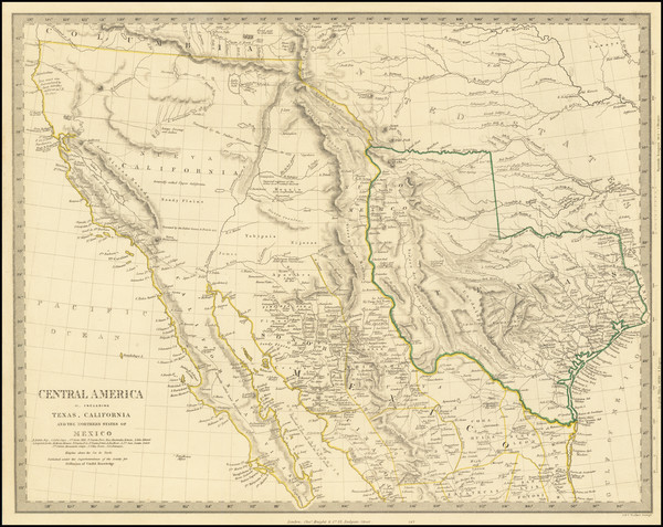 84-Texas, Southwest, Rocky Mountains and California Map By SDUK
