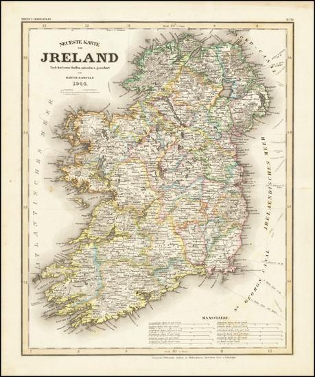 96-Ireland Map By Joseph Meyer