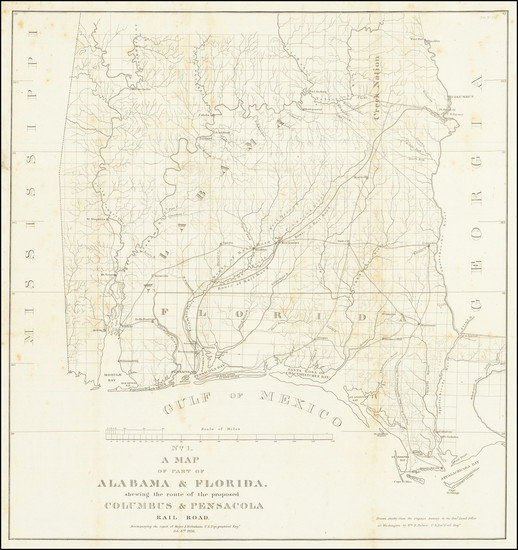 55-Florida and Alabama Map By U.S. Government