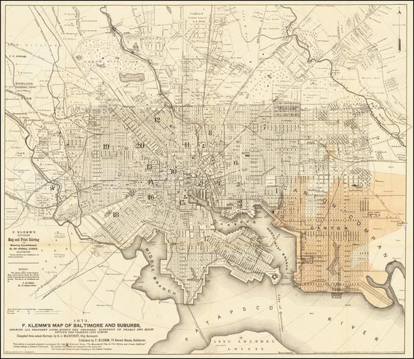 66-Maryland Map By A. Hoen & Co.  &  F. Klemm  &  S.J. Martinet