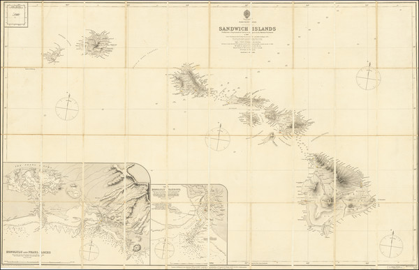 51-Hawaii and Hawaii Map By British Admiralty