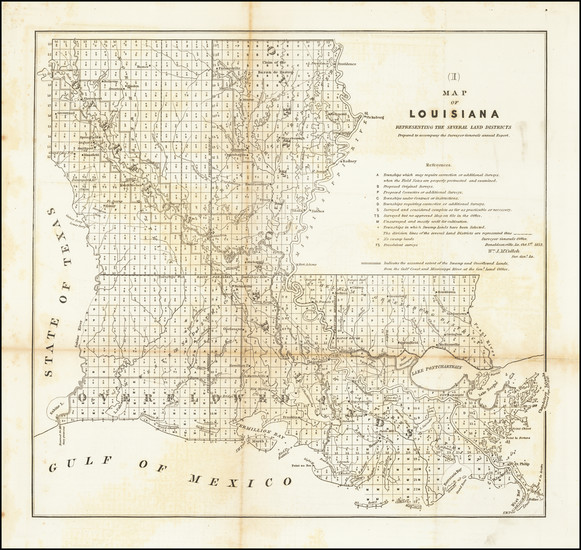 94-Louisiana Map By General Land Office