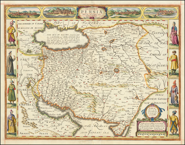 26-Central Asia & Caucasus and Persia Map By John Speed