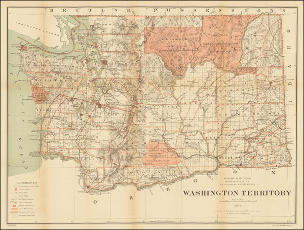 27-Washington Map By General Land Office