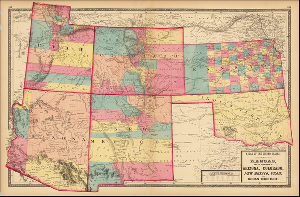 39-Kansas, Oklahoma & Indian Territory, Arizona, Colorado, Utah, New Mexico, Colorado and Utah