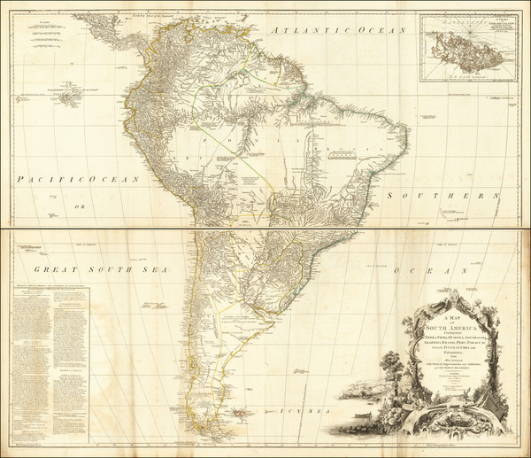 59-South America Map By Robert Sayer