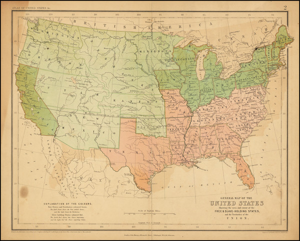 96-United States Map By W. & A.K. Johnston