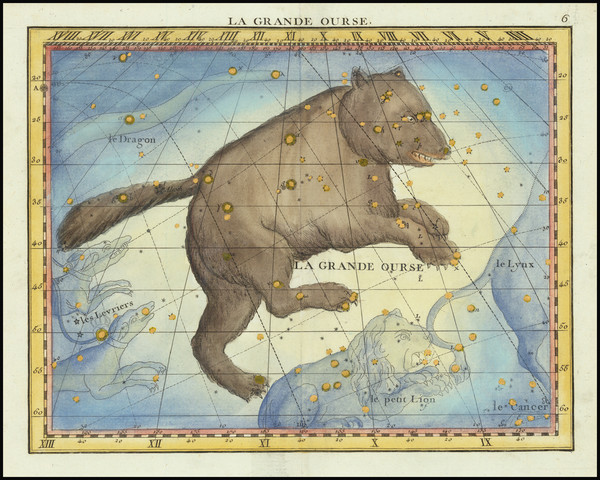 27-Celestial Maps Map By John Flamsteed / MJ Fortin