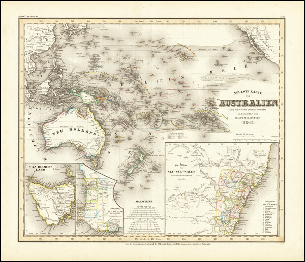 29-Pacific Ocean, Pacific, Australia and Other Pacific Islands Map By Joseph Meyer  &  Carl Ra