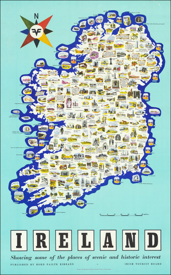 11-Ireland and Pictorial Maps Map By Irish Tourist Board