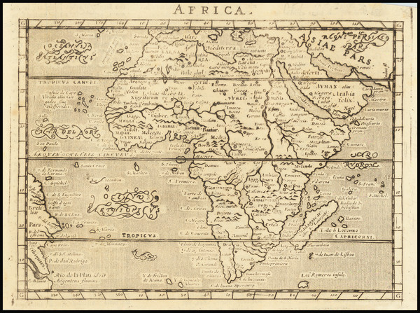 8-Africa Map By Giovanni Antonio Magini