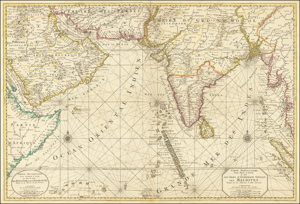 25-Indian Ocean, India and Middle East Map By Pierre Mortier