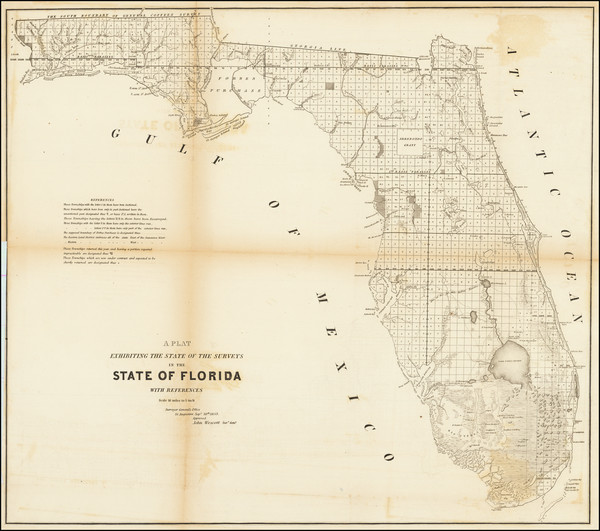 94-Florida Map By U.S. Surveyor General