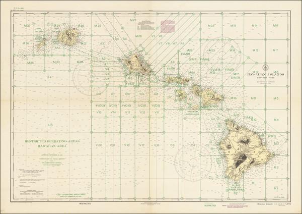 99-Hawaii, Hawaii and World War II Map By U.S. Coast & Geodetic Survey
