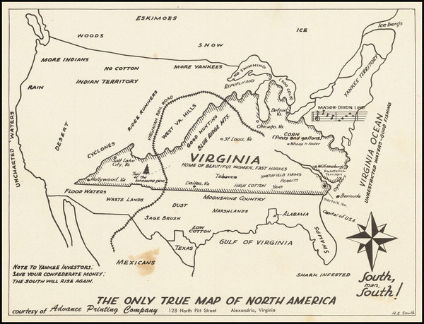 95-United States, Virginia and Pictorial Maps Map By H.E. Smith