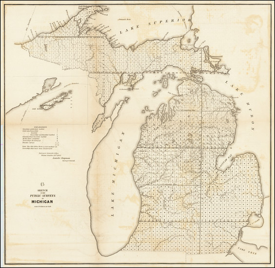 79-Michigan Map By General Land Office