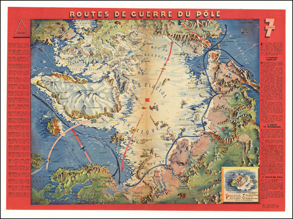 51-Polar Maps, Pictorial Maps and World War II Map By Jacques Mercier