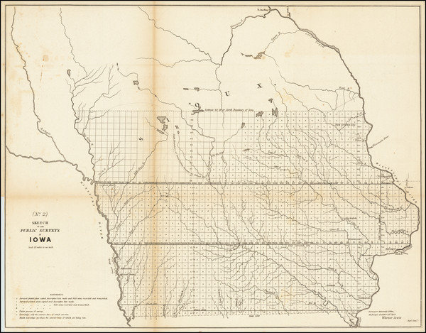 15-Iowa Map By General Land Office