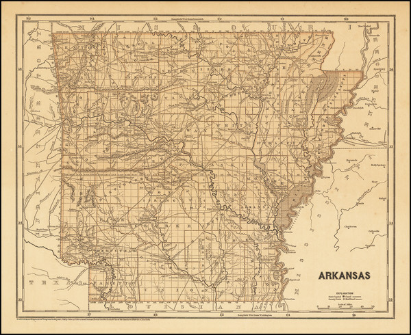 35-Arkansas Map By Sidney Morse  &  Samuel Breese