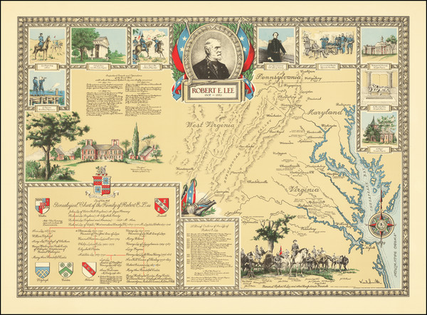 59-West Virginia, Virginia and Pictorial Maps Map By Karl Smith