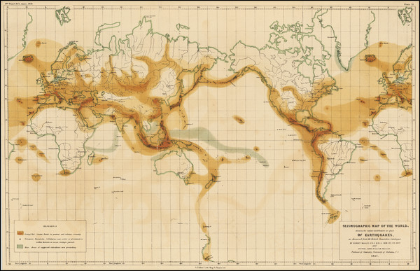 1-World Map By Robert Mallet  &  John William Mallet