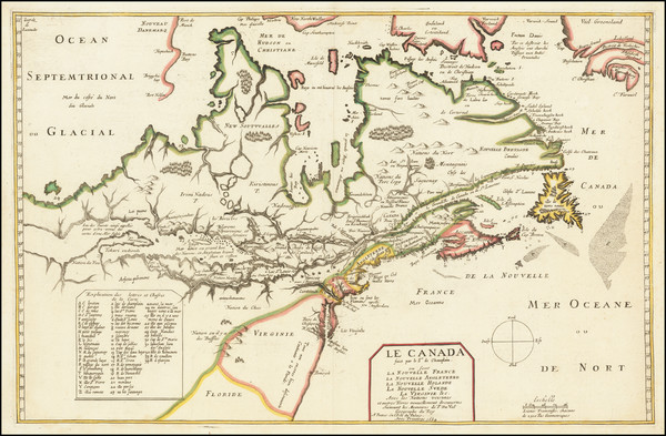 68-New England, Mid-Atlantic, Midwest and Canada Map By Pierre Du Val