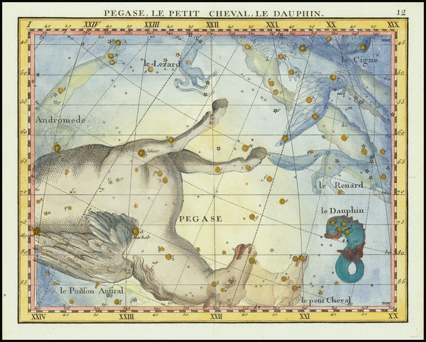 24-Celestial Maps Map By John Flamsteed / MJ Fortin