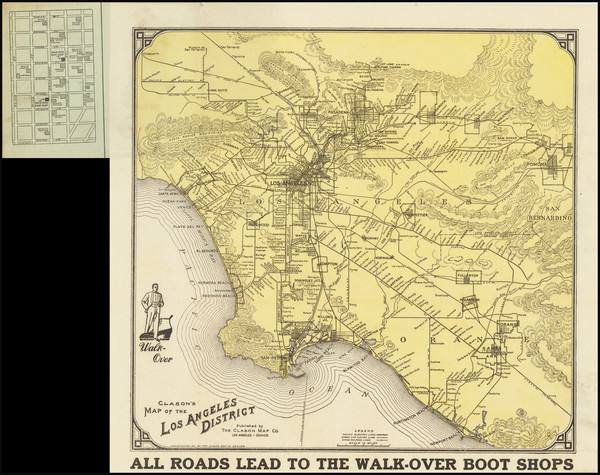 23-California and Los Angeles Map By George Clason
