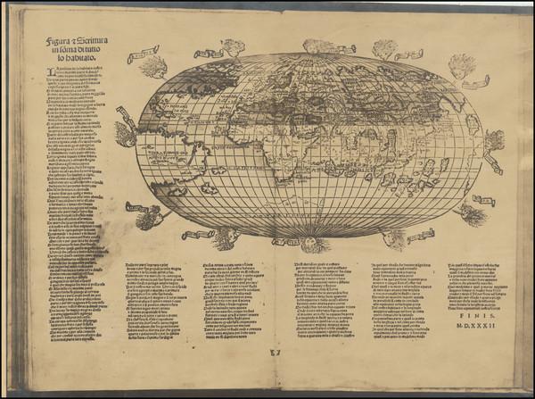 55-World Map By Francesco Rosselli