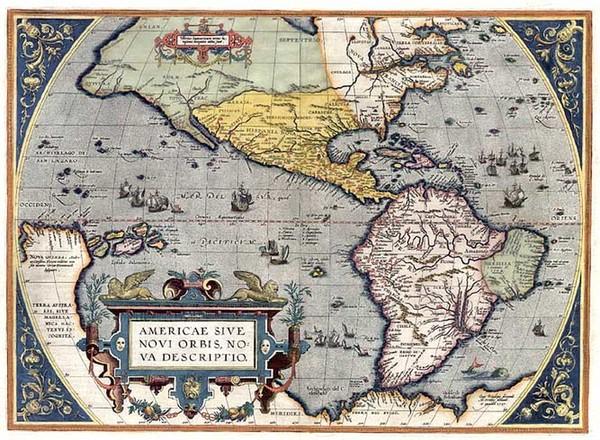 33-World, Western Hemisphere, South America and America Map By Abraham Ortelius